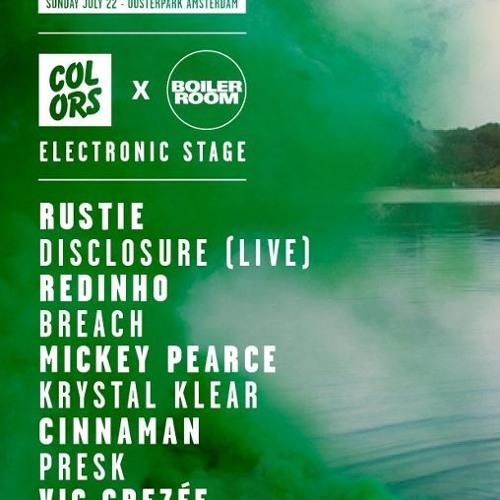 Disclosure live on the Boiler Room x Colors stage at Appelsap Festival