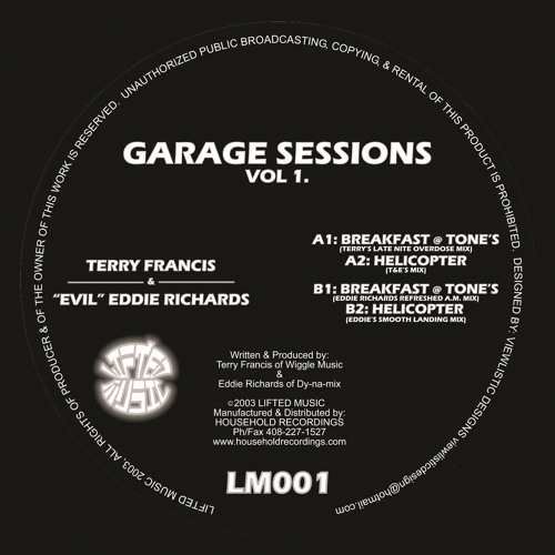 Breakfast @ tones terry francis mix clip Lifted Music 001-Terry Francis  & Eddie Richards