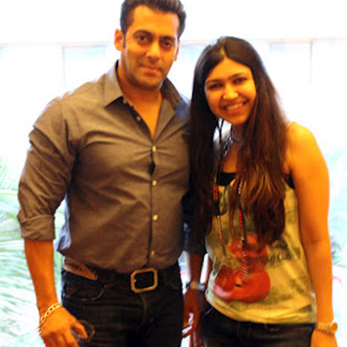 Megha with Salman Khan
