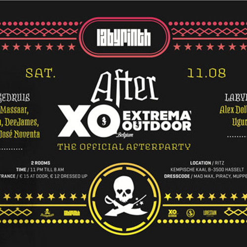 Massaar @ the Feestgedruis Extrema outdoor Afterparty at the Ritz Building Hasselt - 11.08.2012