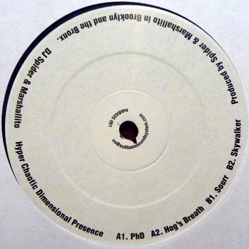 """4 clips from """"Hyper Chaotic Dimensional Presence EP"""" - DJ Spider & Marshallito (12"""" Vinyl Only)"""