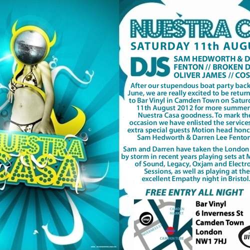 Darren Lee Fenton & Sam Hedworth Live @ Nuestra Casa 11th August 2012