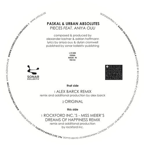 Paskal & Urban Absolutes - Pieces feat. Aniya Ouu (Rockford Inc.s - MissMeiersDreamsOfHappinessRmx)