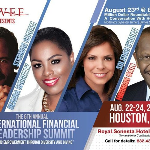 """Dr. Deavra Daughtery talks to ReTina Broussard at """"The International Financial and Leadership Summit"""