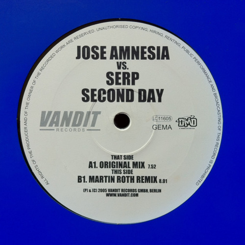 Jose Amnesia and Serp - Second Day (Traces Traxx Bootleg Mix) *Free Download*