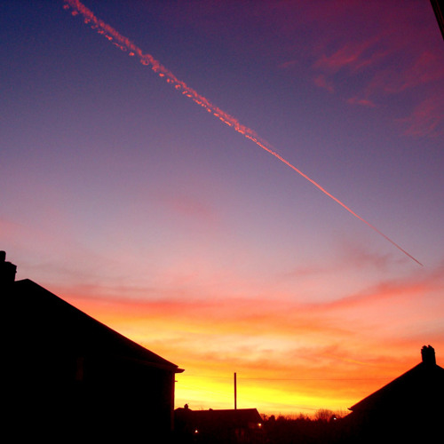The weight of the washing line (Across a blazing sky)