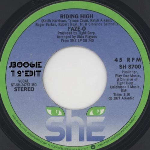 "Ridin' High - J Boogie 12"" EDIT"