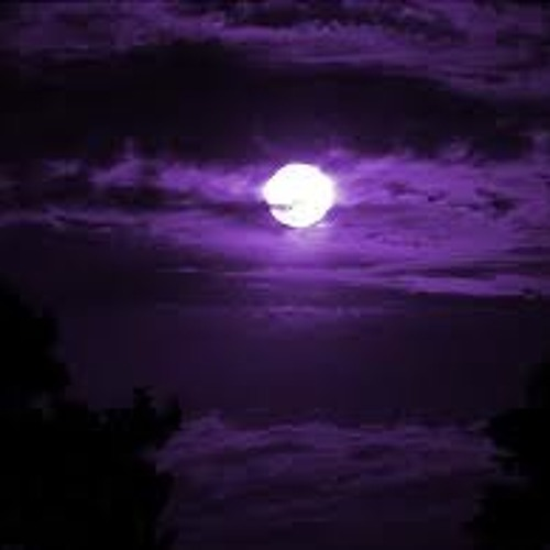 Chrome Moon Under the Purple fog