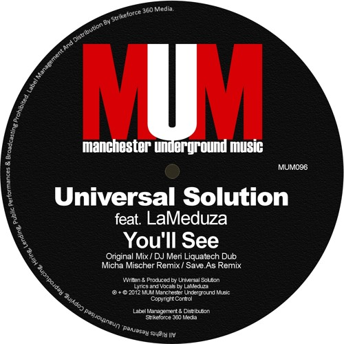 Universal Solution feat. LaMeduza - You'll See (Micha Mischer Remix) [MUM]
