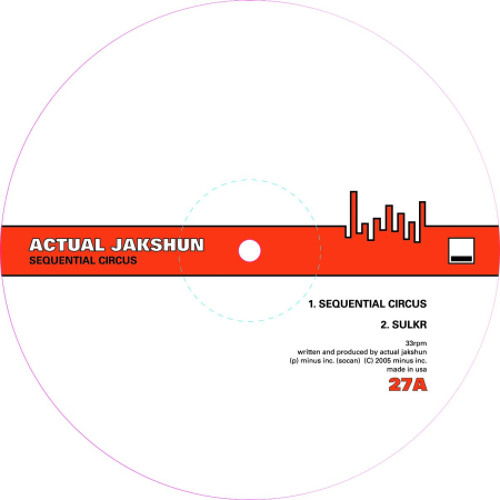 Actual Jakshun - Sequential Circus (Marc Houle Remix) | Minus | 2005