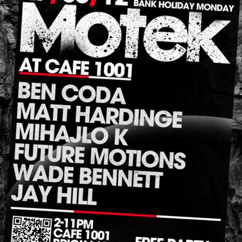 //London Calling - Jay Hill @ Motek Bank Holiday Party//