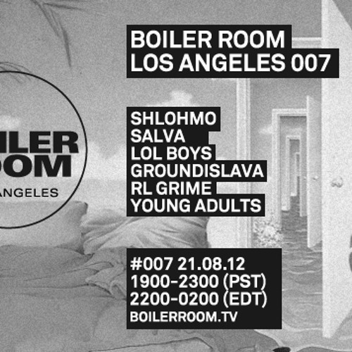 Shlohmo 60 min Boiler Room Los Angeles DJ Set