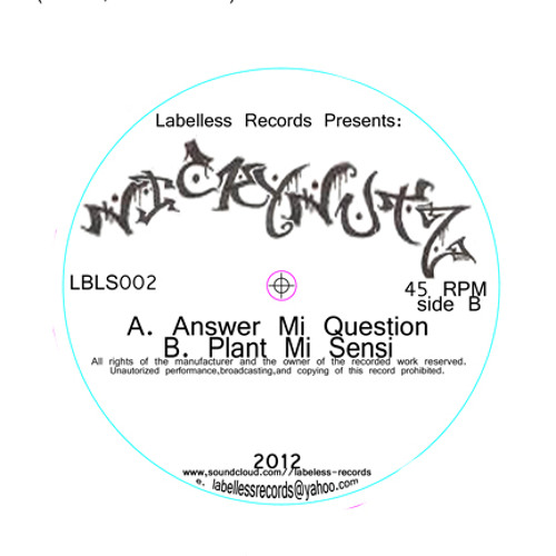 """Nickynutz feat Dillinger - Answer mi question VIP (OUT NOW!!! On 12"""" vinyl LBLS002)"""