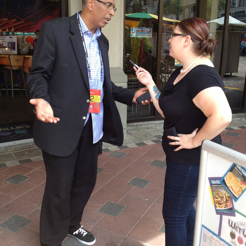 Meg Lanker-Simons interviews former RNC Chair Michael Steele at the RNC