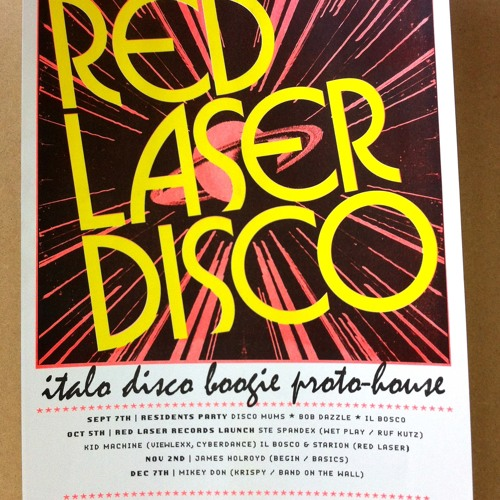 Il Bosco Live - Red Laser Disco  - Live Take - All Vinyl Mixtape