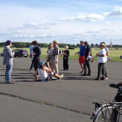 Tempelhof Broadcast rehearsal at Tempelhofer Park