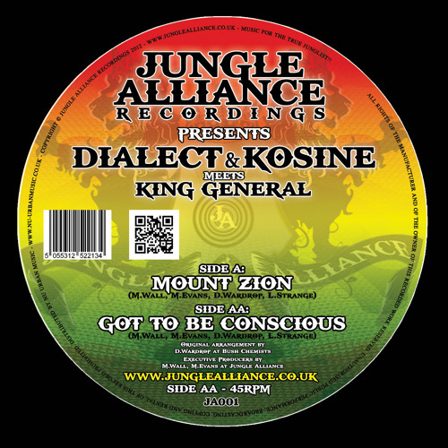 KING GENERAL - MOUNT ZION - DIALECT & KOSINE VERSION - JUNGLE ALLIANCE RECORDINGS 2012 - CLIP