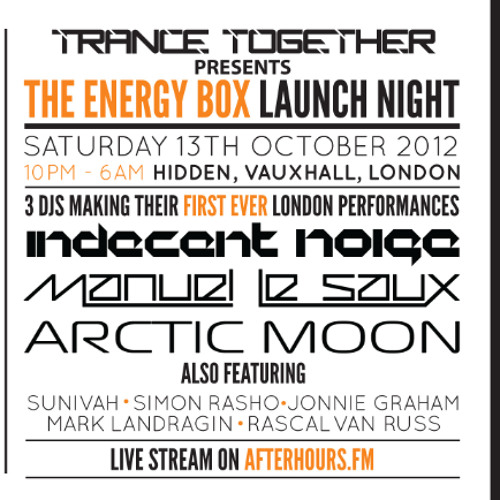 The ENERGY BOX Oct-12 B2B Promo Mix: Arctic Moon, Manuel Le Saux, Indecent Noise - Trance Together