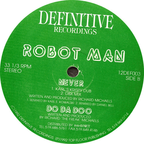 Robotman: Do Da Doo (Original Mix) (1992) 12DEF003