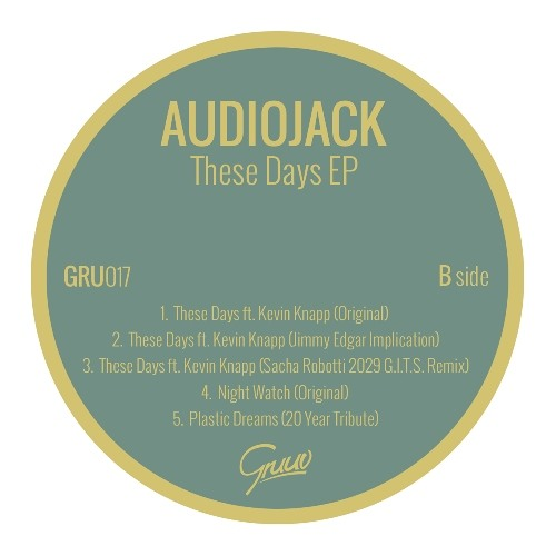 Gruuv 017 EP: Audiojack, Jimmy Edgar & Sacha Robotti