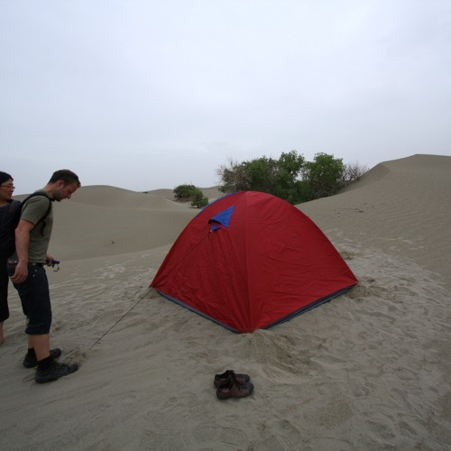 Sandstorm Inside Tent Taklamakan Desert