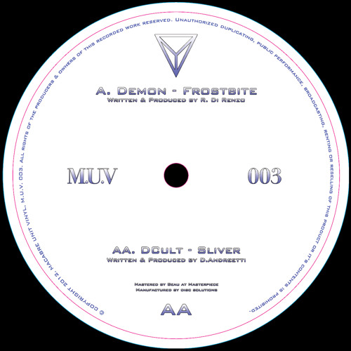MUV003 - Demon & DCult - Frostbite/Sliver - OUT NOW
