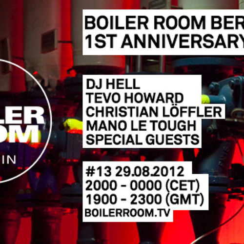 Mano Le Tough 55 min Boiler Room Berlin DJ Set