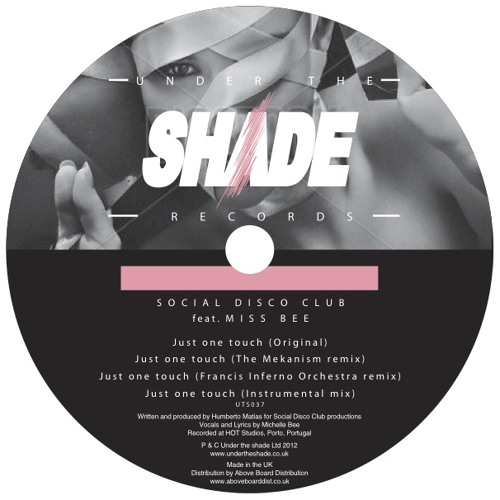 Social Disco Club - Just One Touch feat. Michelle Bee [Under the Shade]