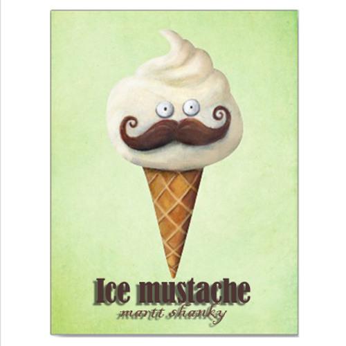 Ice mustache