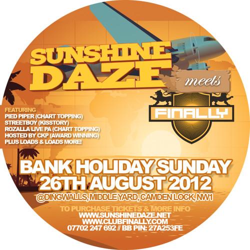 Sunshine Daze meets Finally CD Aug 2012