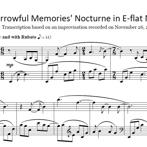 Brad Stark 'Sorrowful Memories' Nocturne in E-flat minor 2011-11-26 (Sheet Music Now Available!)