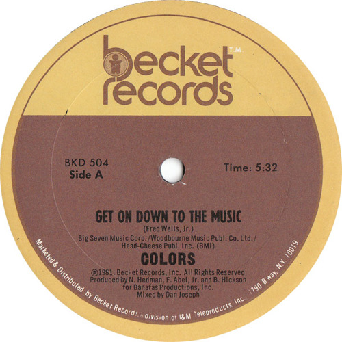 Get on Down to the Music - Colors  -  (Chewy rub dedicated to  Jski )