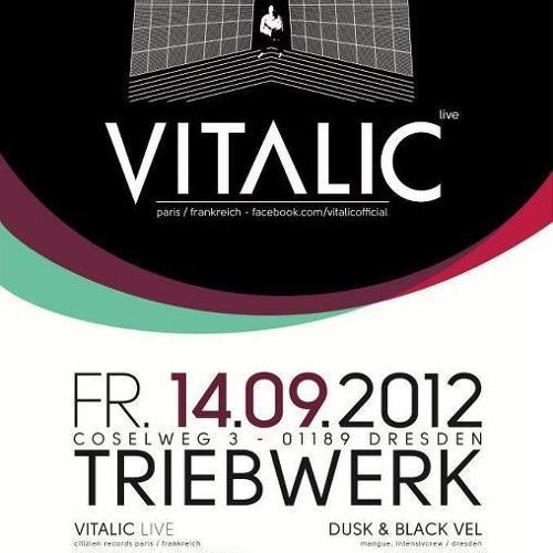 RADIO-SPOT: VITALIC LIVE! + Norris Terrify B-DAY at Triebwerk Dresden, DE  // 2012-SEP-14.