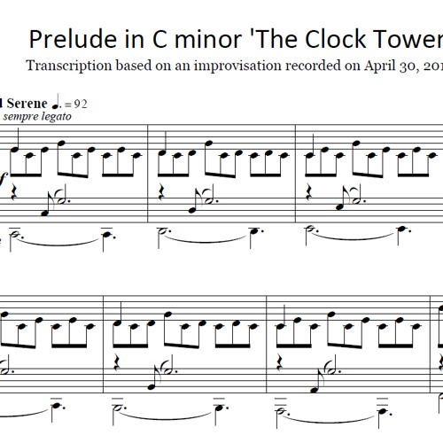Brad Stark - Prelude in C minor 'The Clock Tower' - April 30, 2012 (Sheet Music Now Available!)
