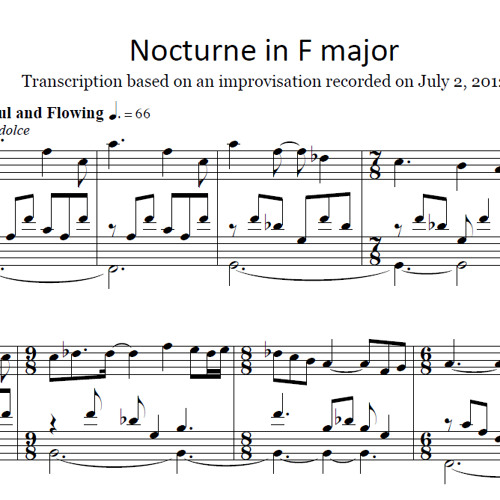 2012-07-02 No. 4 Nocturne in F (Sheet Music Now Available!)