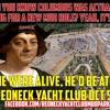 Redneck Yacht Club Columbus Day Football Spot
