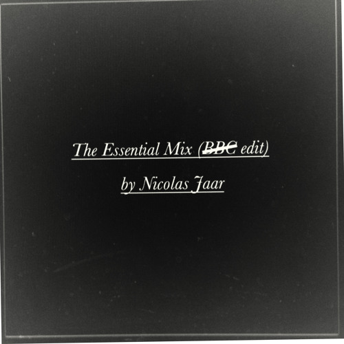 CSP06 ∆ Nicolas Jaar - Essential Mix (NO BBC Edit)