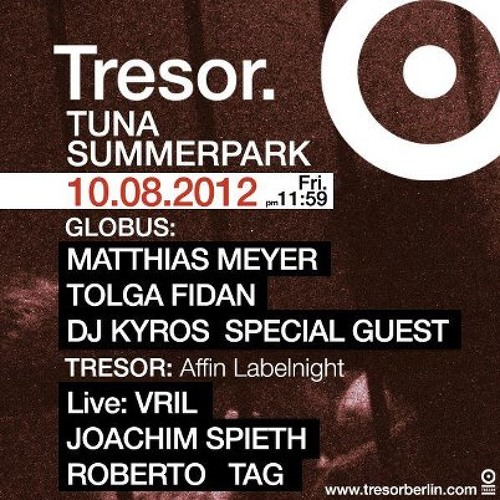 Joachim Spieth @ Tresor, Berlin [10.08.2012]