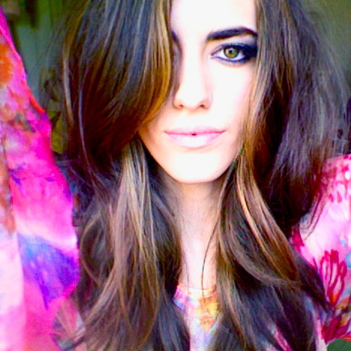 Blue Hills And Purple Butterflies- Gabriella Jones