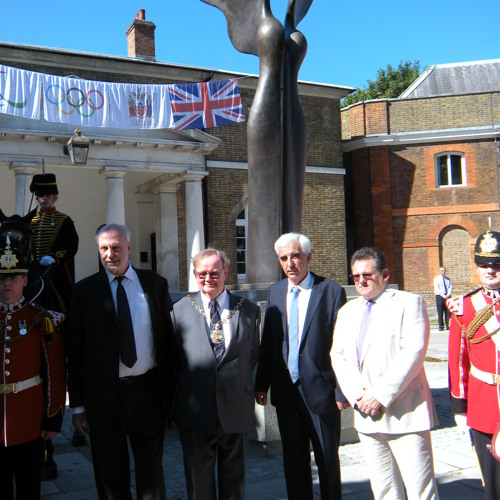 Greenwich Unveiling of Statue of Nike - Greek Goddess of Victory