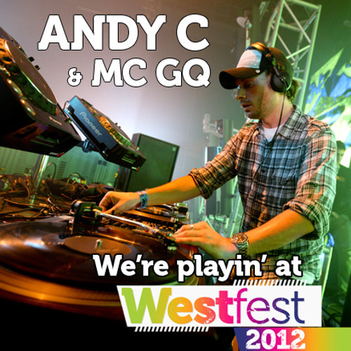 Andy C and Mc GQ on Main Stage at Westfest 2009