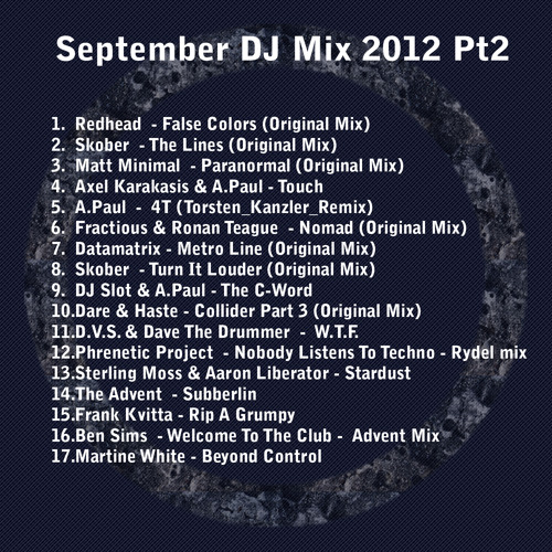 Dave the Drummer Dj mix Sept 2012 - A Bit Harder