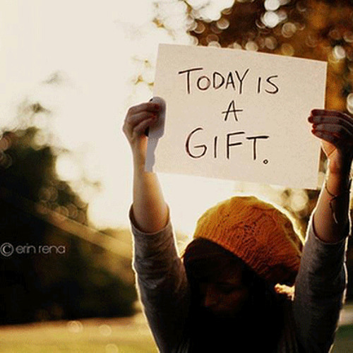 Today is a Gift!! - Daily Word September 21, 2012