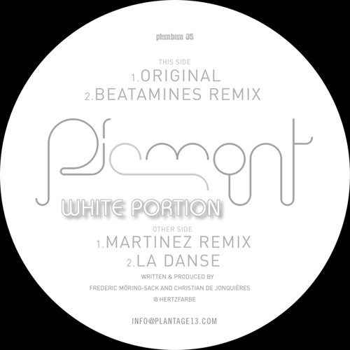 Piemont - White Portion (Beatamines Remix) PLUMBUM005 SNIPPET