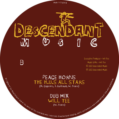 DMU-001B The H.U.S All Stars - Peace Horns / Will Tee - Dub Mix