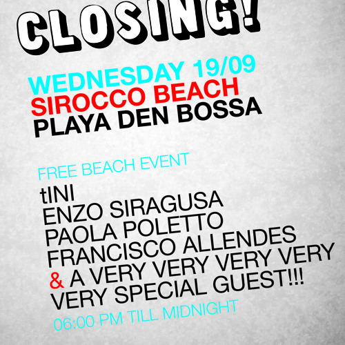 tINI and the gang CLOSING - 19|09 - 1hr ENZO SIRAGUSA live from sirocco beach, IBIZA