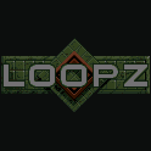 Loopz in-game (David Whittaker C64 game cover)