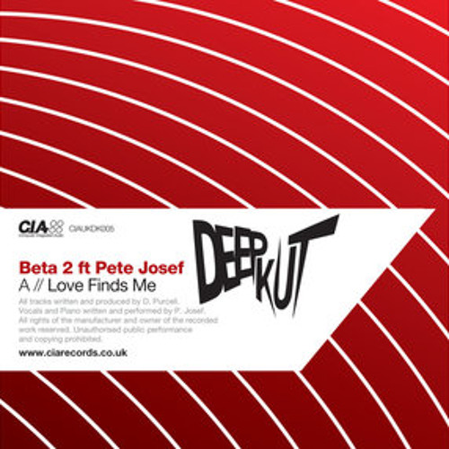 BETA 2 ; LOVE FINDS ME [ Feat PETE JOSEF ] (CIAUKDK005)
