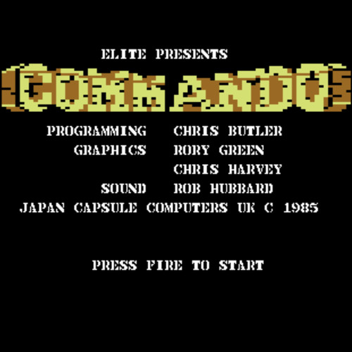 Commando game over (Rob Hubbard C64 game cover)