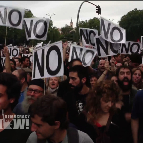 "Thousands Surround Spanish Parliament in Bid to ""Occupy Congress"" & Stop Austerity. 1 of 2"